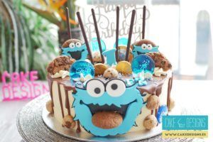 Drip cake - Cookie monster
