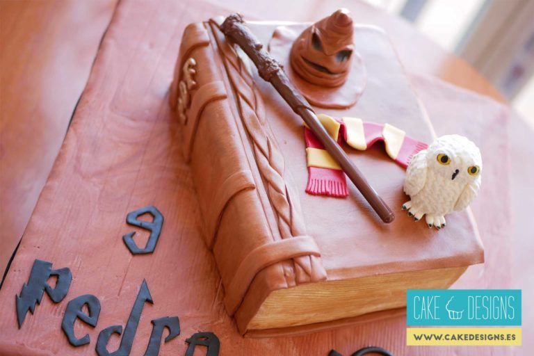 Tarta de libro Harry Potter